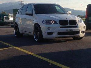 Work  Felge in 10.5x22 ET 10 mit Work  Reifen in 295/30/22 montiert vorn Hier auf einem X5 BMW E70 3.0d (SAV) Details zum Fahrzeug / Besitzer