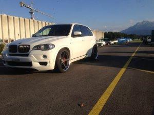 Work  Felge in 12x22 ET 0 mit Work  Reifen in 335/25/22 montiert hinten Hier auf einem X5 BMW E70 3.0d (SAV) Details zum Fahrzeug / Besitzer