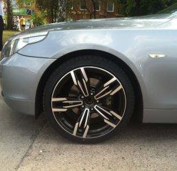 AEZ M6 Gran Coupé Felge in 8.5x19 ET 35 mit Nexen N8000 Reifen in 245/35/19 montiert vorn mit 15 mm Spurplatten Hier auf einem 5er BMW E60 530i (Limousine) Details zum Fahrzeug / Besitzer