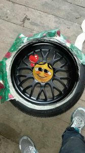 Rondell 0058 Felge in 7.5x17 ET 32 mit Hankook  Reifen in 225/45/17 montiert vorn Hier auf einem 3er BMW E36 316i (Coupe) Details zum Fahrzeug / Besitzer
