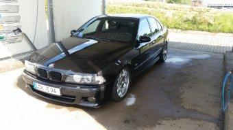 BMW Styling 65 Felge in 8x18 ET 20 mit Dunlop  Reifen in 245/40/18 montiert vorn mit 5 mm Spurplatten Hier auf einem 5er BMW E39 540i (Limousine) Details zum Fahrzeug / Besitzer