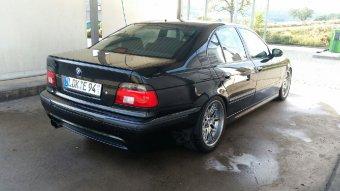BMW Styling 65 Felge in 9.5x18 ET 22 mit Dunlop  Reifen in 275/35/18 montiert hinten Hier auf einem 5er BMW E39 540i (Limousine) Details zum Fahrzeug / Besitzer
