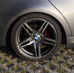 Borbet XR-T Graphit Felge in 9x18 ET 35 mit Falken  Reifen in 225/40/18 montiert hinten mit 15 mm Spurplatten Hier auf einem 3er BMW E90 318d (Limousine) Details zum Fahrzeug / Besitzer