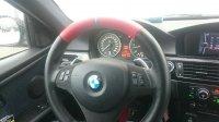 BMW M Performance Lenkrad Alcantara / rot/schwarz 12Uhr blau