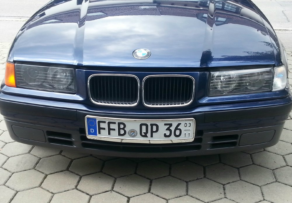 BMW e36 blue coupe - 3er BMW - E36
