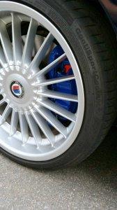 Alpina Classic II Felge in 8.5x19 ET 20 mit Continental ContiSportContact Reifen in 245/35/19 montiert vorn mit 10 mm Spurplatten Hier auf einem 5er BMW E61 550i (Touring) Details zum Fahrzeug / Besitzer