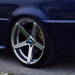 Z-Performance ZP.6 Felge in 9.5x19 ET 35 mit - NoName/Ebay - Accelera PHI Reifen in 255/30/19 montiert hinten und mit folgenden Nacharbeiten am Radlauf: Kanten gebördelt Hier auf einem 3er BMW E46 325i (Coupe) Details zum Fahrzeug / Besitzer