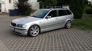 Dezent  Felge in 8x18 ET 40 mit - Eigenbau - Pirelli Reifen in 225/40/18 montiert hinten mit 10 mm Spurplatten Hier auf einem 3er BMW E46 320i (Touring) Details zum Fahrzeug / Besitzer