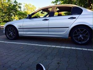 Borbet Y Titan Matt Felge in 7.5x17 ET 43 mit Fulda Sportcontrol v1 FP Reifen in 225/45/17 montiert hinten Hier auf einem 3er BMW E46 316i (Limousine) Details zum Fahrzeug / Besitzer