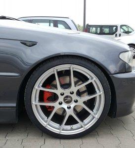 Z-Performance ZP.07 Felge in 8.5x19 ET 35 mit Falken  Reifen in 225/35/19 montiert vorn Hier auf einem 3er BMW E46 330d (Coupe) Details zum Fahrzeug / Besitzer