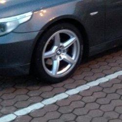 ROD 0203 Felge in 8x18 ET 20 mit Falken  Reifen in 245/45/18 montiert vorn Hier auf einem 5er BMW E60 525d (Limousine) Details zum Fahrzeug / Besitzer
