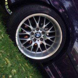 Rondell 0058 Felge in 10x17 ET 15 mit Hankook Ventus V12 Evo2 Reifen in 255/30/17 montiert hinten und mit folgenden Nacharbeiten am Radlauf: gebördelt und gezogen Hier auf einem 3er BMW E36 328i (Coupe) Details zum Fahrzeug / Besitzer
