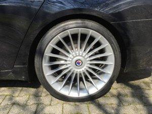 Alpina Classic Felge in 10x21 ET 41 mit Michelin Pilot Sport Reifen in 285/30/21 montiert hinten mit 12 mm Spurplatten Hier auf einem 7er BMW F01 740d (Limousine) Details zum Fahrzeug / Besitzer