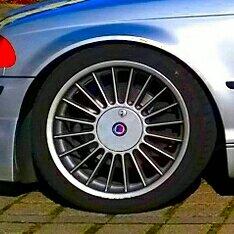 Alpina  Felge in 8x18 ET 47 mit Hankook EVO Ventus 1 Reifen in 225/40/18 montiert vorn Hier auf einem 3er BMW E46 328i (Touring) Details zum Fahrzeug / Besitzer
