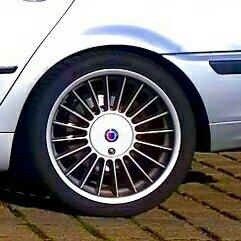 Alpina  Felge in 8.5x18 ET 50 mit Hankook EVO Ventus 1 Reifen in 255/40/18 montiert hinten Hier auf einem 3er BMW E46 328i (Touring) Details zum Fahrzeug / Besitzer