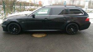 ROD Serie BMW Felge in 8.5x18 ET 35 mit Goodyear Winterreifen Reifen in 225/50/18 montiert vorn Hier auf einem 5er BMW E61 525d (Touring) Details zum Fahrzeug / Besitzer
