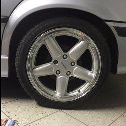 AC Schnitzer Typ 2 Felge in 8x17 ET 35 mit Fulda SportControl Reifen in 225/45/17 montiert hinten Hier auf einem 3er BMW E36 316i (Limousine) Details zum Fahrzeug / Besitzer
