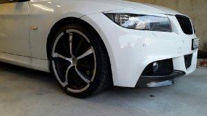 Brock Rund Felge in 9.5x19 ET 25 mit Brock Rund Reifen in 225/35/19 montiert vorn mit 20 mm Spurplatten und mit folgenden Nacharbeiten am Radlauf: Kanten gebördelt Hier auf einem 3er BMW E91 335d (Touring) Details zum Fahrzeug / Besitzer