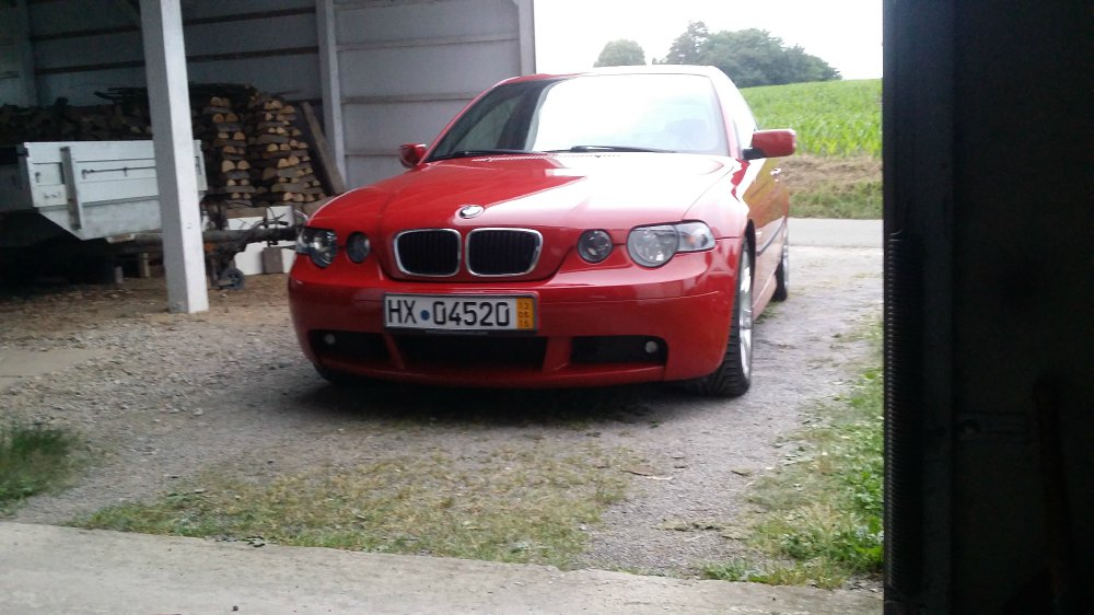 ein langer weg bmw 316ti m paket in imola rot 3er bmw e46 compact tuning fotos. Black Bedroom Furniture Sets. Home Design Ideas
