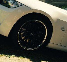 Breyton Race GTR - Matt Black Felge in 8.5x19 ET 35 mit Continental SportContact 6 Reifen in 235/35/19 montiert vorn mit 8 mm Spurplatten Hier auf einem 3er BMW E92 335i (Coupe) Details zum Fahrzeug / Besitzer