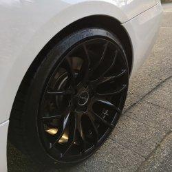 Breyton Race GTS Glossy Black Felge in 9.5x19 ET 35 mit Nexen NFera SU 1 Reifen in 255/30/19 montiert hinten Hier auf einem 3er BMW E92 335d (Coupe) Details zum Fahrzeug / Besitzer