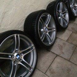 BMW M Performance 313 Doppelspeiche Felge in 9.5x19 ET 30 mit BF Goodrich  Reifen in 255/30/19 montiert hinten mit 20 mm Spurplatten Hier auf einem 3er BMW E92 320d (Coupe) Details zum Fahrzeug / Besitzer