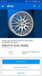 Rondell  Felge in 8.5x18 ET  mit - Eigenbau -  Reifen in 225/35/18 montiert vorn Hier auf einem 5er BMW E39 525d (Limousine) Details zum Fahrzeug / Besitzer