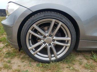 Rial X10 Felge in 8x18 ET 30 mit Hankook Ventus S1 EVO2 Reifen in 225/40/18 montiert vorn Hier auf einem 1er BMW E87 116d (5-Türer) Details zum Fahrzeug / Besitzer
