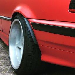 Brock B1 Felge in 10x17 ET 20 mit Hankook V12 evo Reifen in 235/40/17 montiert hinten mit folgenden Nacharbeiten am Radlauf: massive Aufweitung Hier auf einem 3er BMW E36 320i (Cabrio) Details zum Fahrzeug / Besitzer