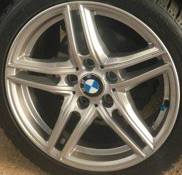 Borbet XR Felge in 7.5x17 ET 35 mit - NoName/Ebay - / Reifen in 215/45/17 montiert hinten Hier auf einem 3er BMW E36 316i (Compact) Details zum Fahrzeug / Besitzer