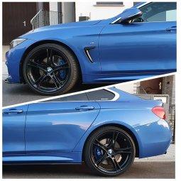 BMW Styling 361 schwarz Felge in 8.5x20 ET 47 mit Pirelli P Zero Reifen in 255/30/20 montiert hinten mit 13 mm Spurplatten Hier auf einem 4er BMW F36 420d (Gran Coupe (GC)) Details zum Fahrzeug / Besitzer