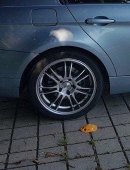 Dotz  Felge in 8x18 ET 35 mit Goodyear Eagle F1 Asymmetric 3 Reifen in 225/40/18 montiert hinten Hier auf einem 3er BMW E90 320i (Limousine) Details zum Fahrzeug / Besitzer