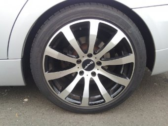 Tomason TN4 Felge in 8.5x18 ET 35 mit Hankook Evo S1 Reifen in 245/40/18 montiert vorn Hier auf einem 3er BMW E91 320d (Touring) Details zum Fahrzeug / Besitzer