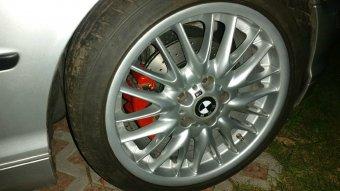 BMW Styling 72 Felge in 8.5x19 ET 50 mit Hankook S1 Reifen in 255/35/18 montiert hinten Hier auf einem 3er BMW E46 328i (Limousine) Details zum Fahrzeug / Besitzer