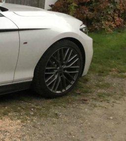 Borbet BS5 80830 Felge in 7x18 ET 38 mit Firestone Winterhawk3 Reifen in 225/40/18 montiert vorn Hier auf einem 2er BMW F22 M240i (Coupe) Details zum Fahrzeug / Besitzer