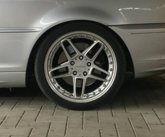AC Schnitzer RS Typ III Felge in 8.5x18 ET 43 mit Uniroyal XL Rainsport 3 Reifen in 255/35/18 montiert hinten Hier auf einem 3er BMW E46 330i (Cabrio) Details zum Fahrzeug / Besitzer