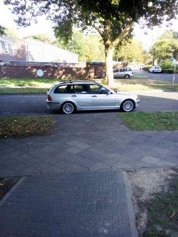 BMW Styling 73 Felge in 7x17 ET 47 mit Bridgestone Blizzak Reifen in 205/50/17 montiert hinten Hier auf einem 3er BMW E46 318i (Touring) Details zum Fahrzeug / Besitzer