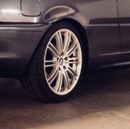 RH Felgen  Felge in 8x18 ET  mit Michelin  Reifen in 225/40/18 montiert hinten Hier auf einem 3er BMW E46 320i (Coupe) Details zum Fahrzeug / Besitzer
