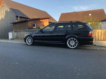 BMW M Performance BMW Alufelge M Doppelspeiche 135 silber Felge in 8.5x18 ET 50 mit Nankang Ultra Sport NS-2 Reifen in 255/35/18 montiert hinten Hier auf einem 3er BMW E46 320d (Touring) Details zum Fahrzeug / Besitzer