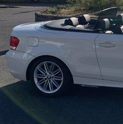 BMW Styling M207 Felge in 7.5x17 ET 47 mit Michelin  Reifen in 225/45/17 montiert hinten mit 10 mm Spurplatten Hier auf einem 1er BMW E88 118i (Cabrio) Details zum Fahrzeug / Besitzer