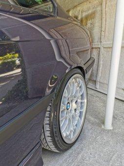 BBS RS 741 Felge in 9x17 ET 26 mit Pirelli p zero nero gt Reifen in 215/40/17 montiert hinten Hier auf einem 3er BMW E36 323i (Coupe) Details zum Fahrzeug / Besitzer