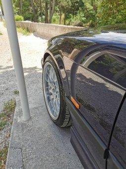 BBS RS 740 Felge in 8x17 ET 20 mit Pirelli p zero nero Reifen in 205/40/17 montiert vorn Hier auf einem 3er BMW E36 323i (Coupe) Details zum Fahrzeug / Besitzer