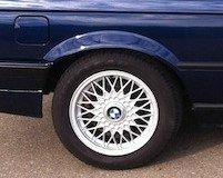 BBS Kreuzspeiche Felge in 7x15 ET 24 mit Goodyear  Reifen in 205/55/15 montiert hinten Hier auf einem 3er BMW E30 325i (Cabrio) Details zum Fahrzeug / Besitzer