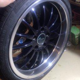 Breyton Magic Felge in 8.5x18 ET 38 mit Continental Sportcontakt 5 Reifen in 225/40/18 montiert vorn Hier auf einem 3er BMW E46 316i (Limousine) Details zum Fahrzeug / Besitzer