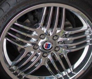 Alpina Dynamic Hochglanzverdichtet Felge in 8.5x19 ET 50 mit Michelin Pilot Sport 2 Reifen in 225/35/19 montiert vorn mit 10 mm Spurplatten Hier auf einem Alpina BMW E46 B3 3.4 S  (Cabrio) Details zum Fahrzeug / Besitzer