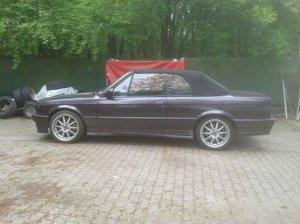 Proline (PLW)  Felge in 8x17 ET 35 mit Continental  Reifen in 215/40/17 montiert hinten mit 20 mm Spurplatten Hier auf einem 3er BMW E30 320i (Cabrio) Details zum Fahrzeug / Besitzer