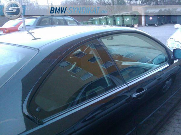 Black coupe und originale 19zoll m3 felgen 3er bmw e46 for Fenster folieren