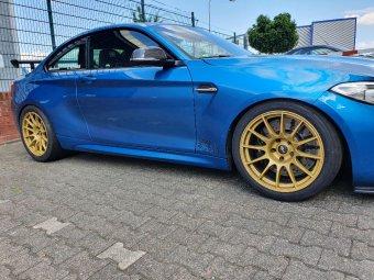 - Eigenbau - Protrack one Felge in 10.5x18 ET 40 mit Nankang AR1 Reifen in 295/30/18 montiert hinten Hier auf einem 2er BMW F87 M2 (Coupe) Details zum Fahrzeug / Besitzer