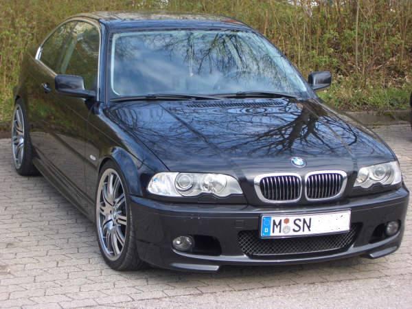 328ci Cosmosschwarz ///M 67 Frontpoliert - 3er BMW - E46 -