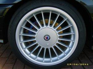 Alpina Classic Softline Felge in 9x17 ET 46 mit Michelin Pilot Sport Reifen in 245/40/17 montiert hinten Hier auf einem Alpina BMW E36 B3 3.2 (Coupe) Details zum Fahrzeug / Besitzer
